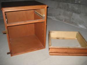 Disassembled bedside table for making diy artist taboret